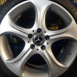 Mercedes OEM A2054018800 7,5x18 5x112 ET44 DIA66,6 (silver) Б/У