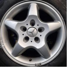 Mercedes OEM A1634010202 8x16 5x112 ET62 DIA66,6 (silver) Б/У