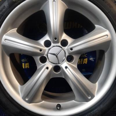 Диски Mercedes OEM A1714011202 7,5x17 5x112 ET36 DIA66,6 (silver) Б/У