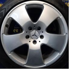 Mercedes OEM A2214012102 8,5x18 5x112 ET43 DIA66,6 (silver) Б/У